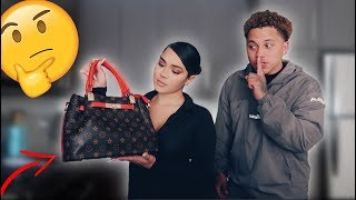 SURPRISING MY GIRLFRIEND WITH A FAKE DESIGNER BAG! ** NOT A GOOD IDEA! **