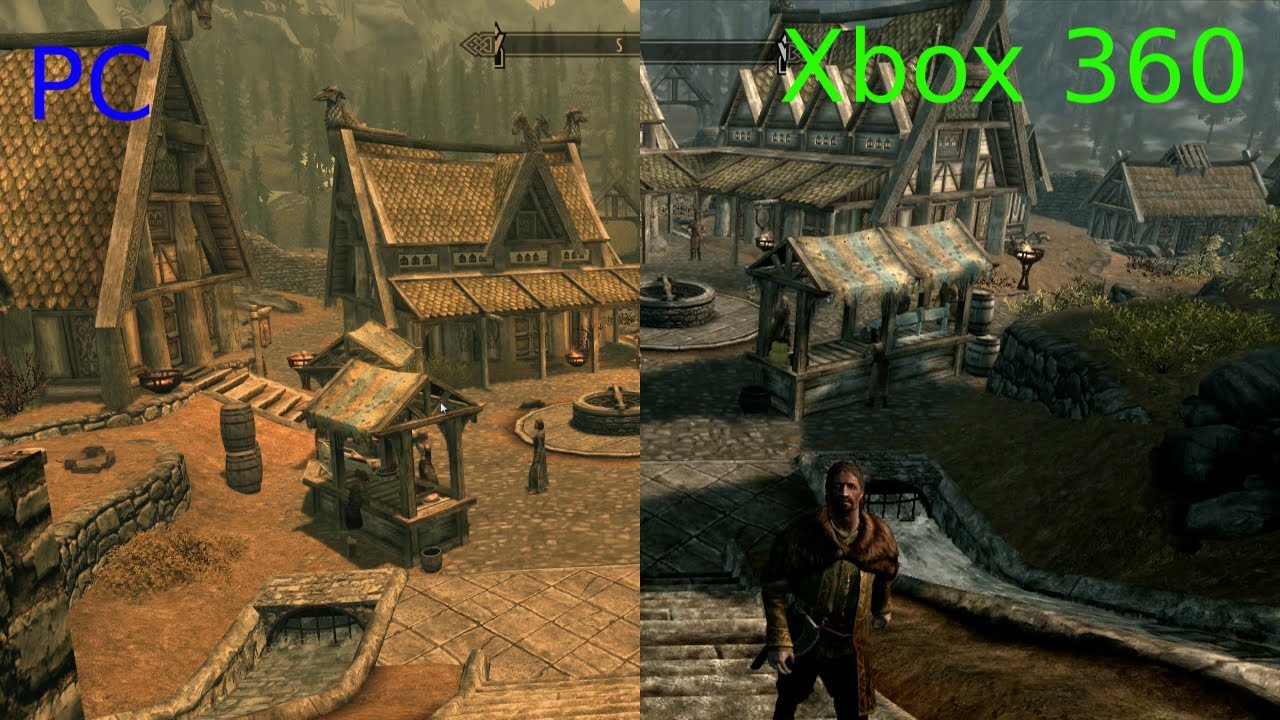 Skyrim: Console VS PC [HD texture pack] Side-by-side Graphics ...