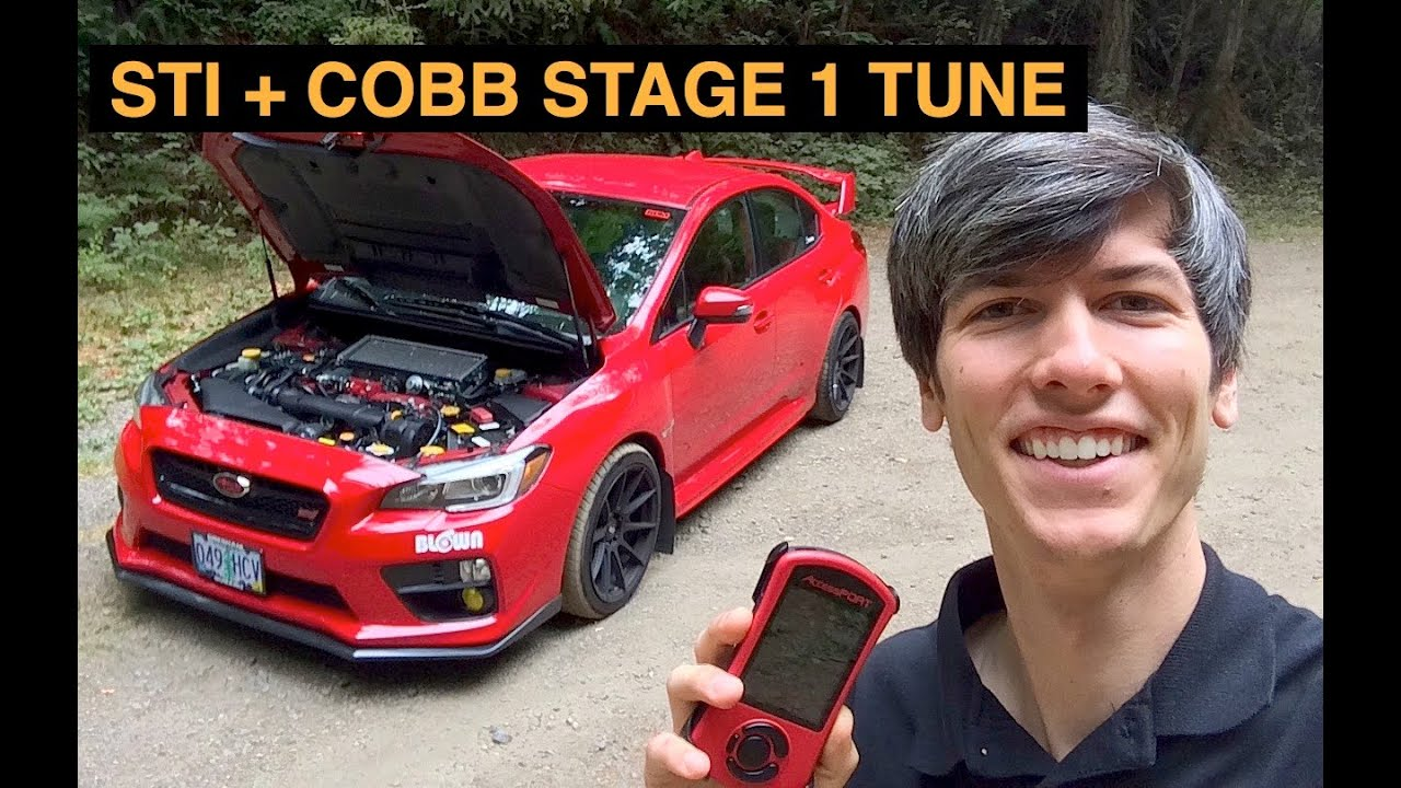 2015 Subaru WRX STI + COBB Stage 1 Tune - Review - YouTube