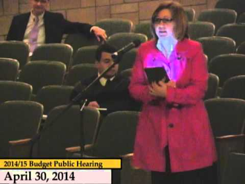 Enfield, CT, USA - Public Hearing on the Budget FY 14/15 - April 30, 2014