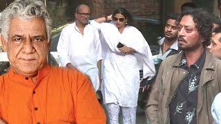 Bollywood Celebs At Om Puri's House Full Video HD - Vidya Balan,Irfan Khan,Jhonny Lever,Kabir Khan