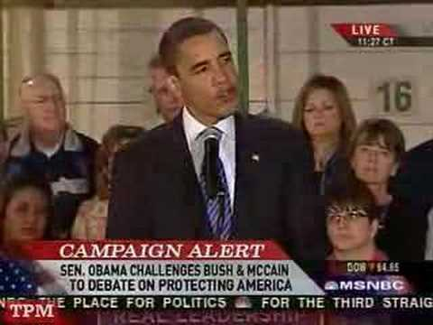 Obama Responds to Bush and McCain Foreign Policy Attacks