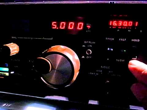 5000kHz Duet of WWVH & BPM FRG-7000 Build-in Clock Adjustment