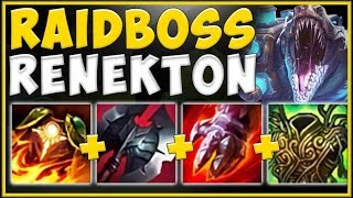 WTF! NEW TANK ITEM BUFFS TURN THE CROC INTO RAIDBOSS KING! RENEKTON S10 GAMEPLAY! League of Legends