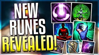 NEW RUNES/KEYSTONES REVEALED!! Borrowing Gold From Shop?? - League of Legends