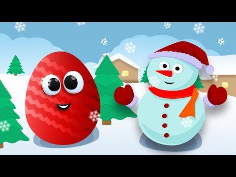 ВЕСЕЛЫЙ Снеговик открывает КИНДЕРЫ с игрушками Вспыш и чудо машинки. Новогодняя распаковка СЮРПРИЗОВ