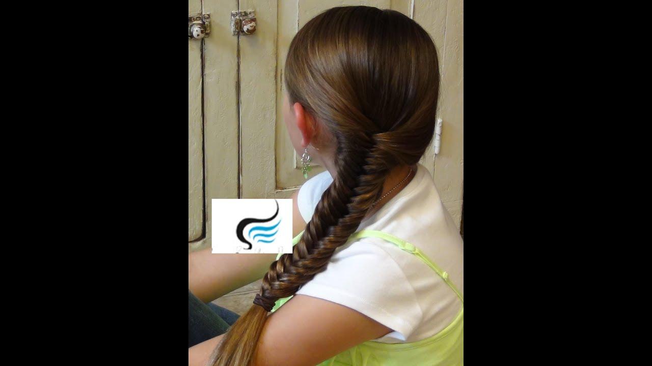 Fishtail Braid Hairstyles tutorials - YouTube