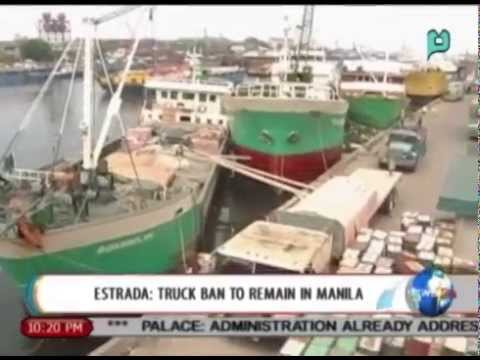 [NewsLife] Mayor Erap Estrada: Truck ban to remain in Manila || Aug. 12, 2014