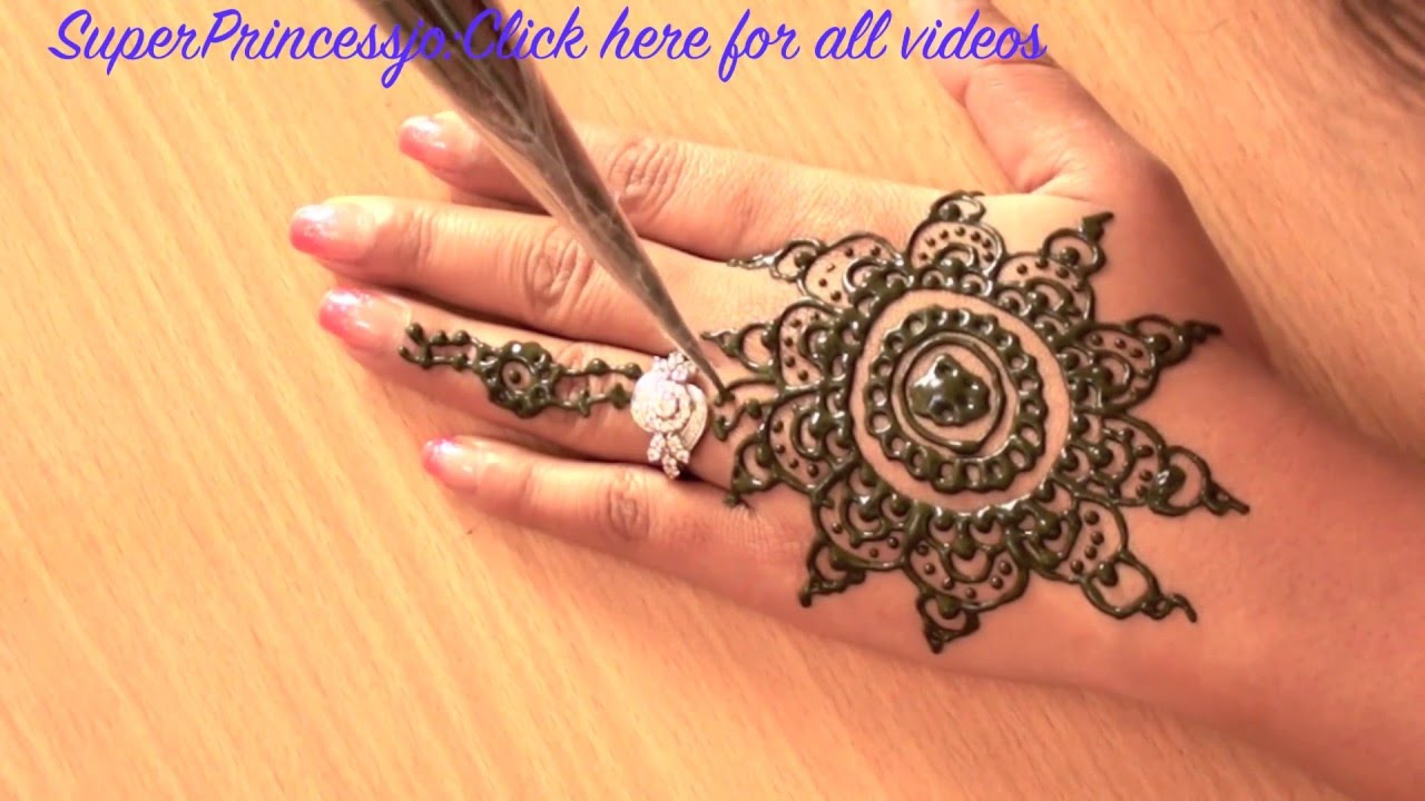Learn Mehndi Patterns : How to make henna design mehndi for eid learn indian