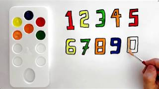 Learning numbers and colors