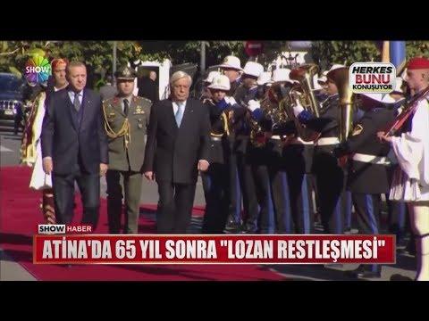 """Atina'da 65 yıl sonra """"Lozan Restleşmesi"""""""