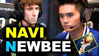NAVI vs NEWBEE - EPIC 4x RAPIERS MEGAS - EPICENTER MAJOR DOTA 2