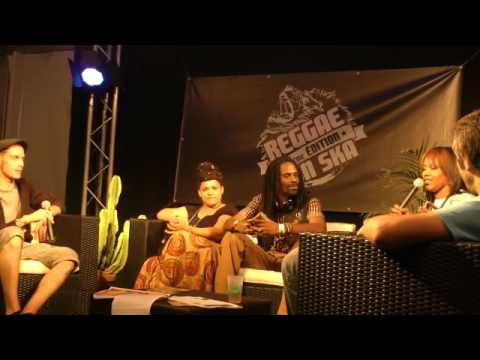 General Levy press conference @ Reggae sun ska Fest 2012