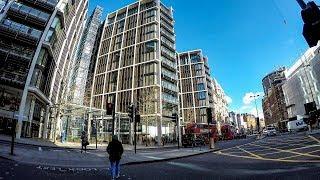 London Knightsbridge. Morning Walk Around
