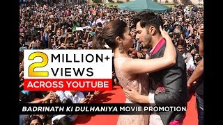 'Badrinath ki Dulhaniya' Movie Promotion by Alia Bhatt and Varun Dhawan at Arya Group of Colleges
