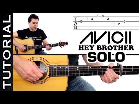 Guitarra Hey Brother Avicii Solo De Guitarra Tutorial Muy Fácil video