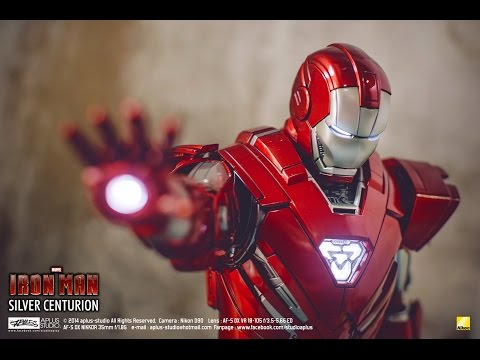REVIEW : Hottoys Ironman Silver Centurion MMS 213