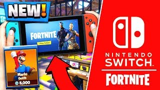 MARIO and LUIGI SKINS Coming! | Fortnite Nintendo Switch Edition! ( Gameplay Release )
