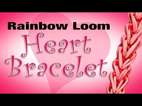 Rainbow Loom Heart Bracelet - How to tutorial HD
