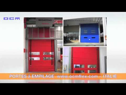 Portes à empilage - Portes souples rapides industrielles -