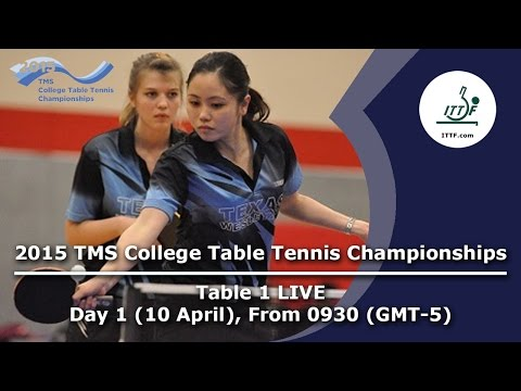 2015 TMS College Table Tennis Championships - Day 1 Table 1 LIVE