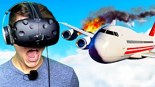 PLANE CRASH IN VIRTUAL REALITY