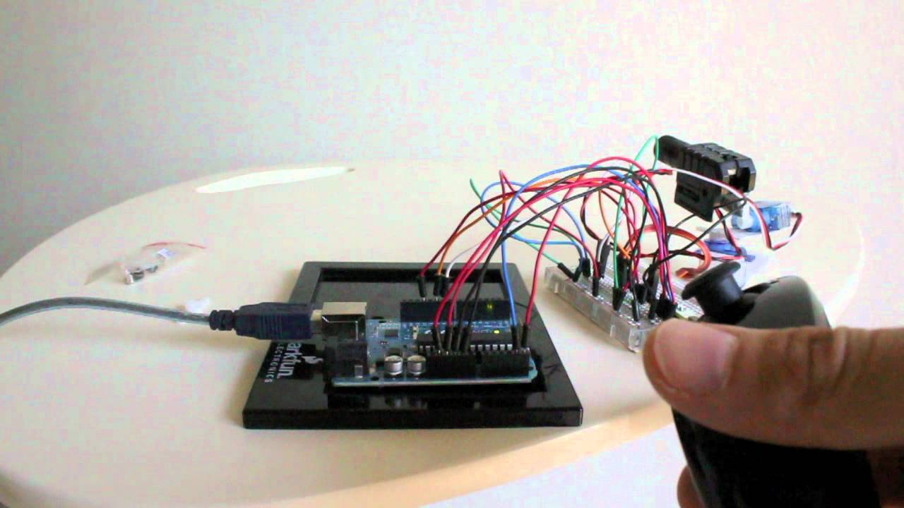 Arduino wiichuck controlled laser gun youtube