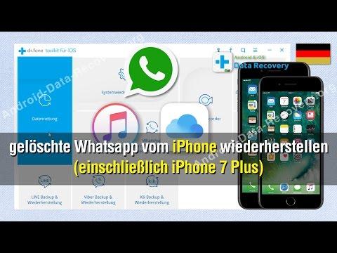 Wie Sie gelöschte Whatsapp vom iPhone wiederherstellen (einschließlich iPhone 7 Plus)