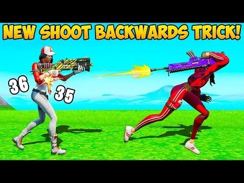 *NEW* SHOOT BACKWARDS GLITCH - Fortnite Funny Fails and WTF Moments! #737