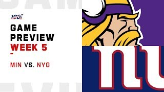 Minnesota Vikings vs. New York Giants Week 5 NFL Game Preview