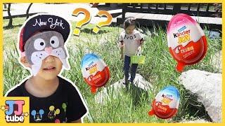누나가 킨더조이를 숨겼다! 킨더조이 서프라이즈 에그 보물찾기 장난감 놀이 Finding Surprise Egg Toy & Play[제이제이 튜브-JJ tube]