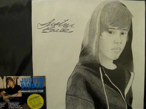 justin bieber drawing himself