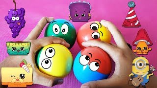 TOYS AND COLORS with FUN SURPRISING TOYS EGGS | TOY HUNTING | BEST KIDS VIDEO