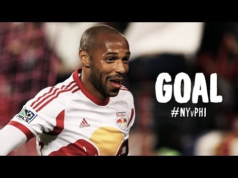 GOAL: Thierry Henry one-times a cross into the back of the net | NY Red Bulls vs. Philadelphia Union