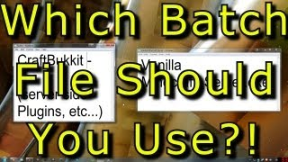 Which Minecraft Server Batch File Code Do I Use? - Interactive Tutorial 1.5 1.4.7