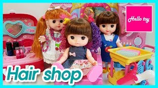 Baby doll Hair shop toys play and Makeup shop toys play