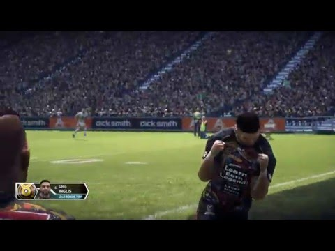 Greg Inglis 100m Intercept Try Rugby League Live 3