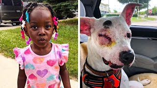 Dog Starts Shoving 3-Year-Old Away, Then Dad Looks Down And Realizes He Just Saved Her Life