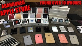 FOUND 10 IPHONES!!! APPLE STORE IPHONE JACKPOT! DUMPSTER DIVING ABANDONED APPLE STORE!