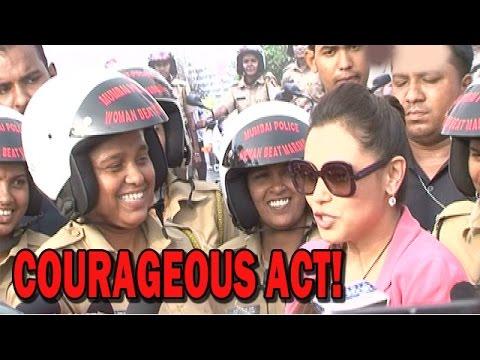 Rani Mukerji promoting 'Mardaani' movie with Lady Police officers! | Bollywood News