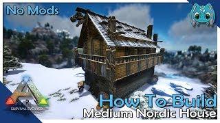 How To Build Medium Nordic House | ARK: Building w/ Fizz (No MODS)