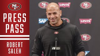 Robert Saleh Breaks Down Matchup against the Falcons | 49ers