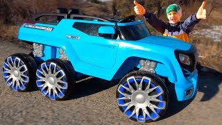 Unboxing and Assembling New six Wheels Toy Car / Kids Ride on 12 volt electric Power Wheel