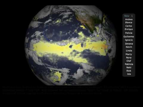 2009 Pacific Hurricane Season Time Lapse [1080p]
