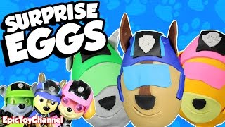 PAW PATROL Mission Paw Sweetie Surprise Eggs of Chase, Skye & Rocky + Paw Patrol Toys & Family Fun