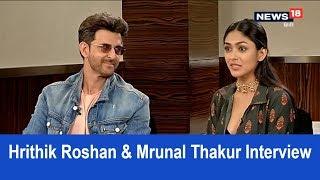 Hrithik Roshan and Mrunal Thakur Interview | Super 30 | Bollywood | News18 Hindi