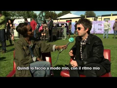 Noel Gallagher on brother Liam - interview on ZDF - Isle of Wight Festival 24.06.2012
