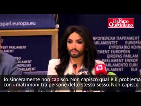 """Conchita Wurst: """"Alfano? Non capisco perché alcuni politici abbiano così paura dei diritti"""""""