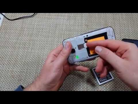 Samsung Galaxy Core Prime How to remove replace install cover. battery & insert sim card & SD Card
