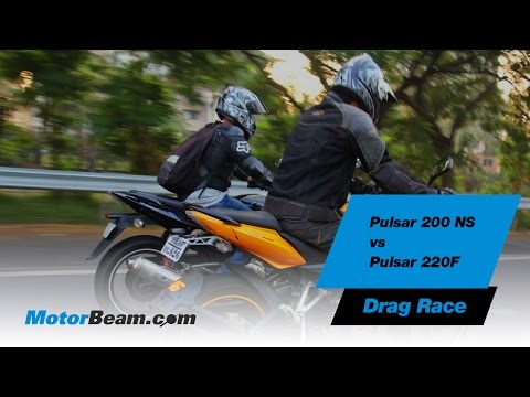 Pulsar 200 NS vs Pulsar 220F - Drag Race